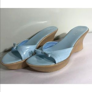 Charles David Italy blue sandals size 8.5